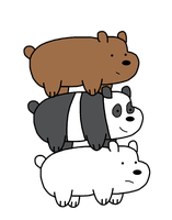 Grizzly, Panda and Ice Bear by MarcosPower1996
