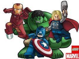 Marvel Lego Avengers Wallpaper by ArtifyPics