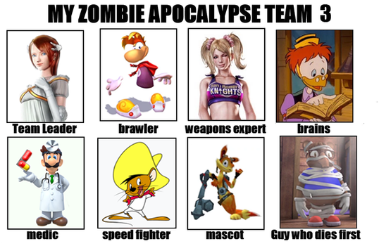 Third Zombie Apocalyse Team Meme by TotallyDeviantLisa