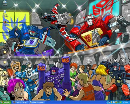 Transformers House Party by miraibaby
