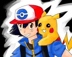 BEST WISHES - Ash and Pikachu by someonewhohasaname