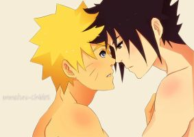 Naruto and Sasuke- Why You Shouldn't Lose Bets by Immature-Child02