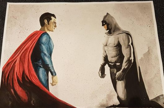Batman vs Superman  by amines1974