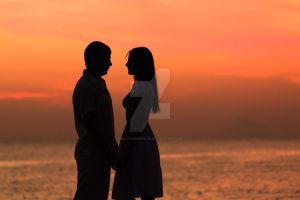 Couple silhouette by MotHaiBaPhoto