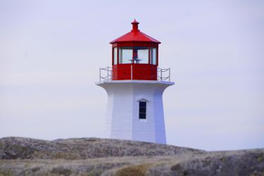 lighthouse at peggy's cove by Mittelfranke