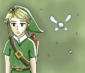 Link and Navi Sketch by herbalcell
