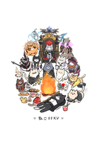 Noctis and the Gangs by janpancake