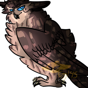 Eagle Owl Guy by EggTheTalonflame145