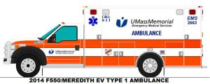 Ford Type I Ambulance UMass Memorial EMS Worcester by AgentSmith66