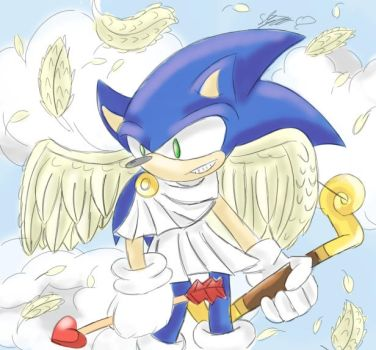 CUPID SONIC!! by sarahlouiseghost