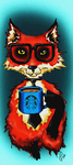 Hipster coffee fox by SofiettaG