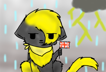 Typical British Weather T-T by DoruTheShortaKitty