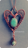Turquoise heart by Sir-i