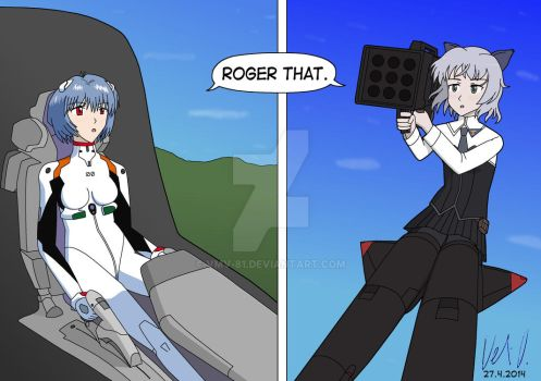 NGE vs Strike Witches 2 by vmv-81