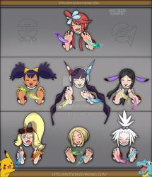 Pokemon Girl Tickles Version 2 - Full Color by MayEsior