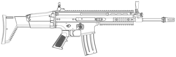 FN SCAR-L Outline by jackroberts