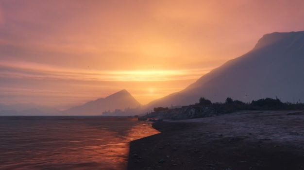 GTA Online - Mountain Side Sunset by MaisyDaydream