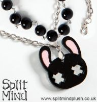Black Bunny Bracelet by splitmindplush