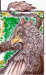 (ACEO) gryphons by PurpleWish23