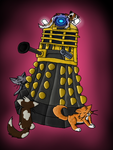 Daleks love cats by 186lilly