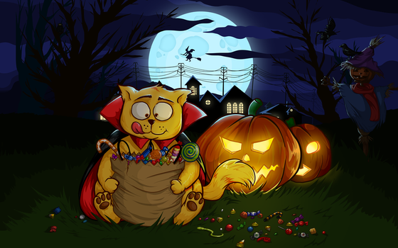 Halloween fatty by Eddie-Zato1