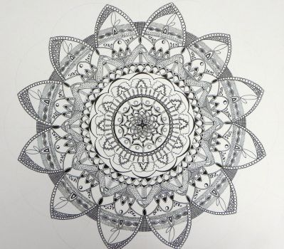 inspired, flower WIP by Lou-in-Canada