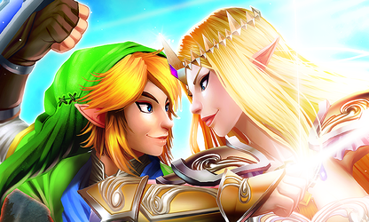 Hyrule Warriors: Zelda and Link (Preview) by mongrelmarie