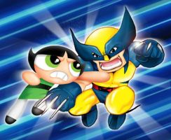 powerpuff x-men by Darda