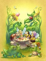 Insects Galore book cover by Sabinerich