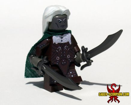 LEGO Drizzt Do-urden, Drow Ranger Minifig by Saber-Scorpion
