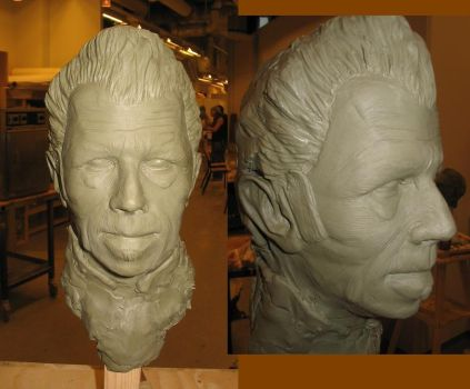 Tom Waits sculpture WIP by M-S-I