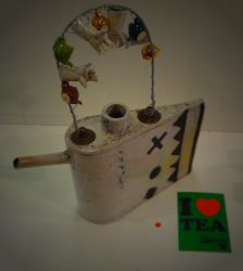 Raku teapot by faather