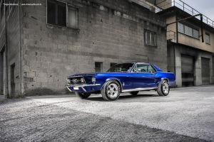 Blue Mustang Coupe by AmericanMuscle