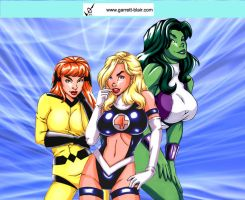 Fantastic Four Gals by Mythical-Mommy