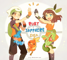 Ruby and Sapphire by liliyy