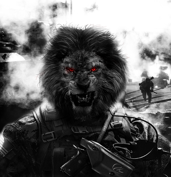 Lion Soldier by AleTrevelin