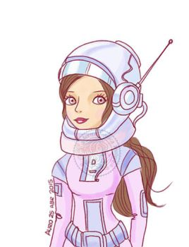 Space girl color by aurangelica
