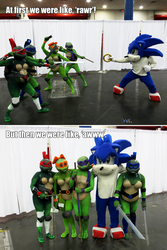 Rule 63 Turtles vs Sonic the Hedgehog Comicpalooza by Foayasha