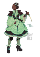 [closed] Adopt - Mint Fighter by fionadoesadopts