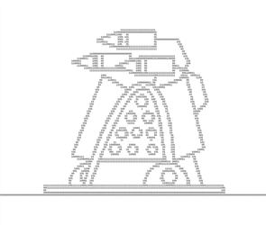 Fieldrunners - Missile Tower (ASCII) by ED-127