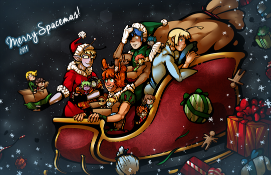 Merry Spacemas 2014! by DarkChibiShadow