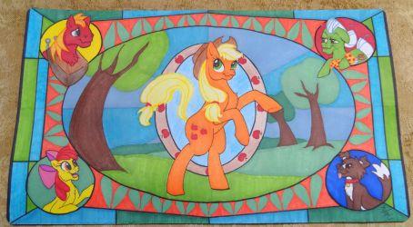 Commission: Apple Family Play-Mat by PrismaKitty