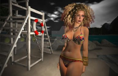 Secondlife Retro bikini by MagickThoughts