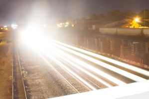 Train - slow shutter speed by Messinground