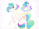 AU : Queen Celestia by RainbowSwetiie