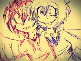 Jeff The Killer And Scissor Mouth by DJambersky666