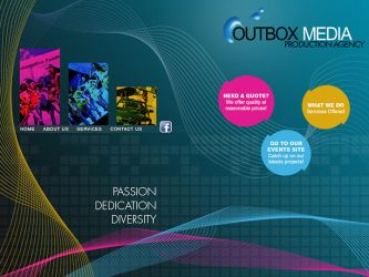 Outbox Media Website design Study by castortroy3497