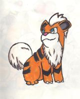 Growlithe by Rift-Mark