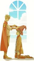 king and merlin by lephan