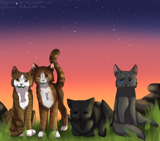 COLLAB: *The ThunderClan Medicine Cat ladies* by Hevirago